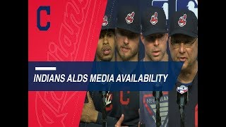 Indians look ahead to facing Astros in ALDS