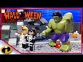 Lego Hulk Halloween With Incredibles 2   Lego Stop Motion - Cartoon For Kids
