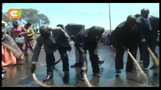 Worshipers wash streets in Nakuru ahead of Prophet Owuor's visit