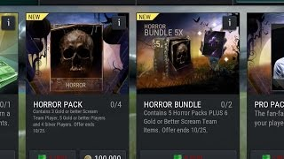Halloween Scream team FIFA 17mobile pack opening I got
