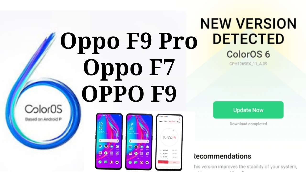 [Updated] Oppo F9/F9 Pro & Oppo F7 ColorOS 6 (Android Pie 9 0) updates are  in the works