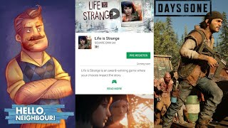 Days Gone Game Release Date, Life is Strange on Play Store, Hello Neighbor Release Date | Android |
