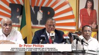 Dr Peter Phillips on the Jamaican Economy Aug 2011 Part 3