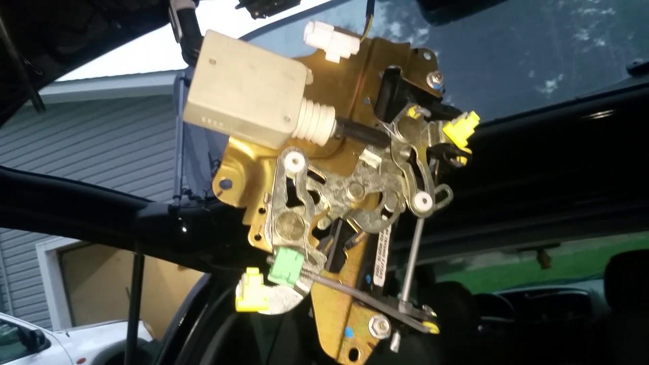 Fixing keyless lock on 2002 Mazda tribute rear hatch on