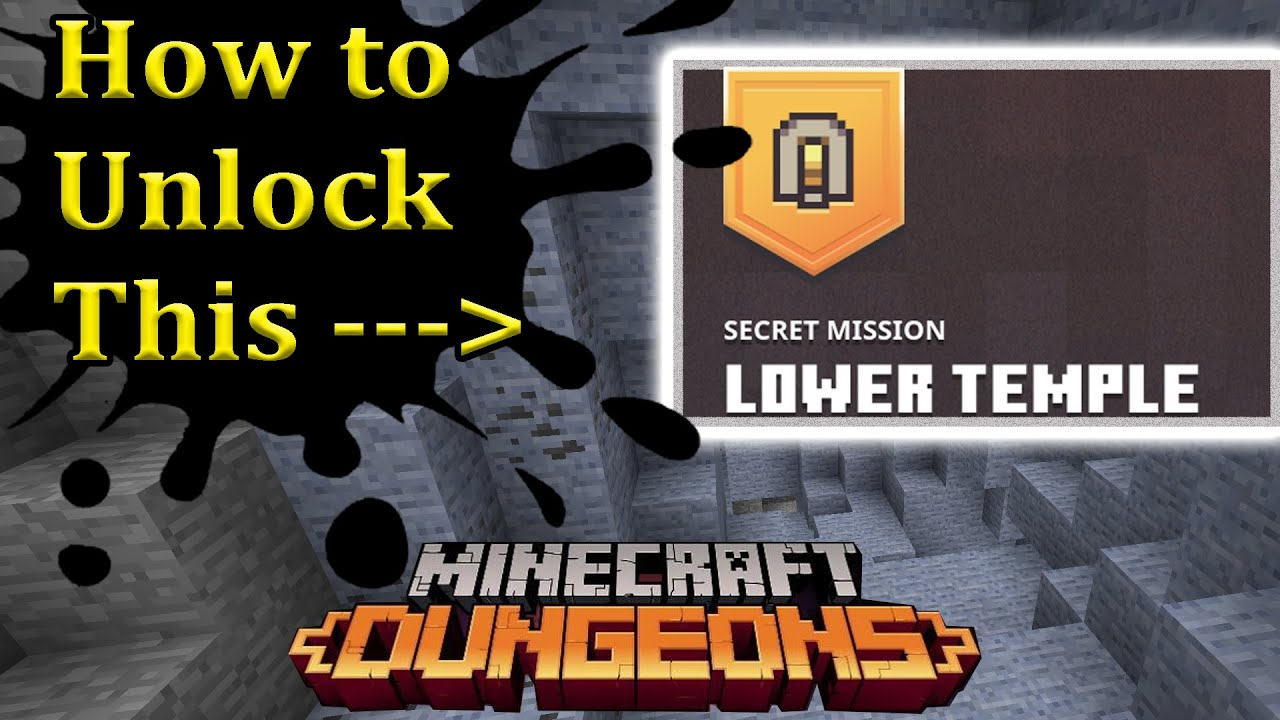 How to unlock the lower Temple Minecraft Dungeons