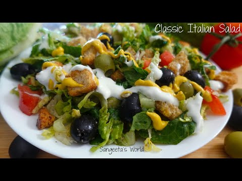 Classic Italian Salad Recipe • #ItalianSaladRecipe • Sangeeta's World