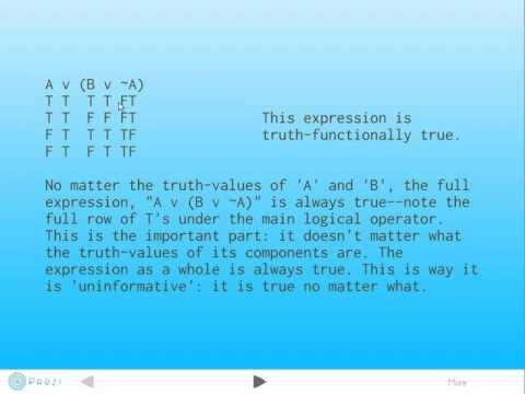 Philosophy 2020 (001): Basic Logic. Youtube Lecture 3 - Truth Functional Semantics