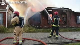 Woning door brand verwoest in Borgsweer