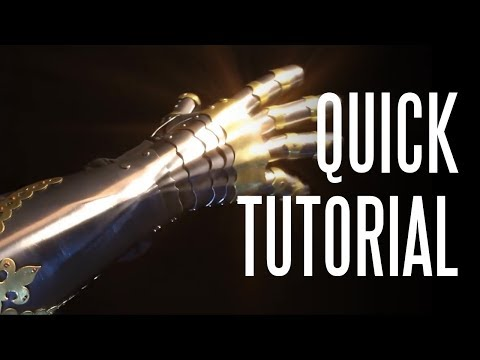 How to Make a Gothic Gauntlet (quick tutorial)