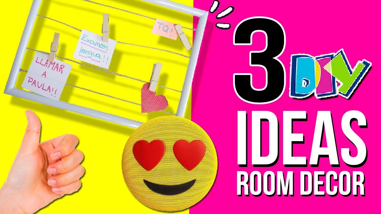 3 ideas f ciles y baratas para decorar tu habitaci n diy for Como decorar una pieza