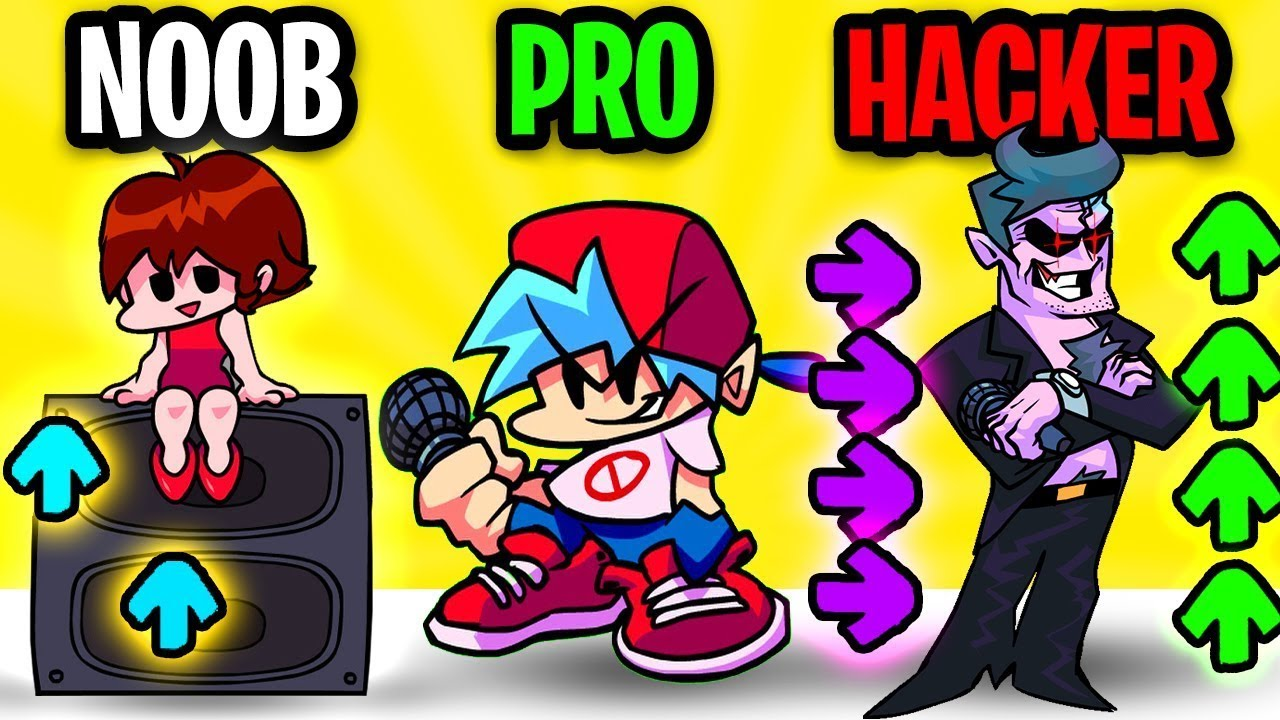Can We Go NOOB vs PRO vs HACKER In FRIDAY NIGHT FUNKIN'? (FNF MAX LEVEL HACK!)
