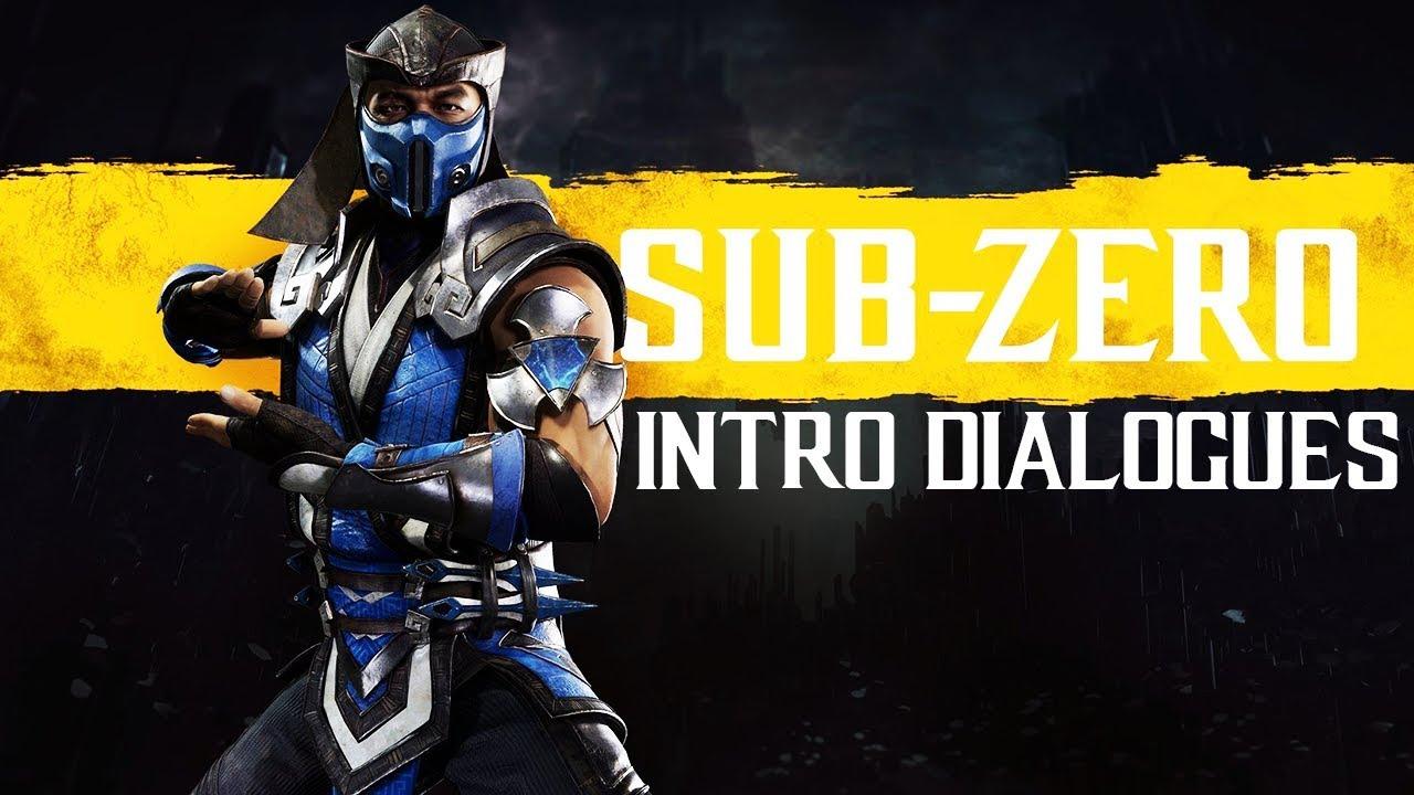 Mortal Kombat 11 All Sub Zero Intros Dialogue Character Banter
