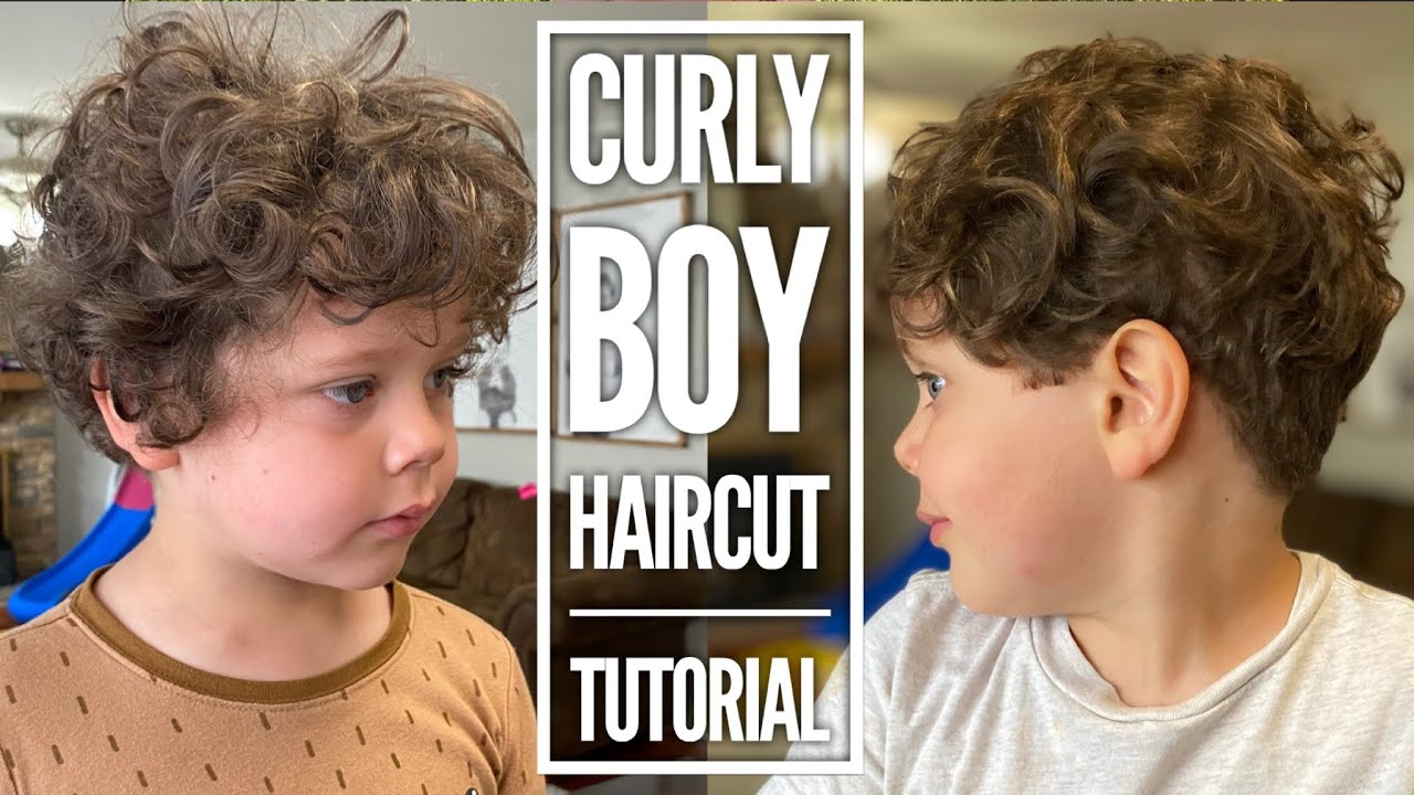 Curly Boy Haircut Tutorial Youtube