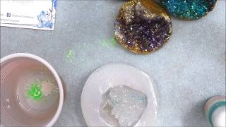 Creiamo insieme un geode in resina - How to make a resin Geode - Zephyra Creations
