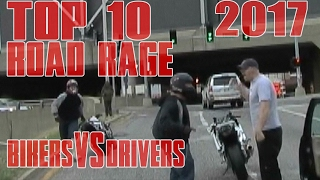 TOP 10 Motorcycle ROAD RAGE In America Compilation 2017 Biker VS Driver ANGRY People STUPID Drivers