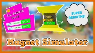*NEW* MAGNET SIMULATOR UPDATE 14 - NEW EPIC REBIRTH BOARD - SUPER REBIRTHS *OP* - BEST HAT - Roblox