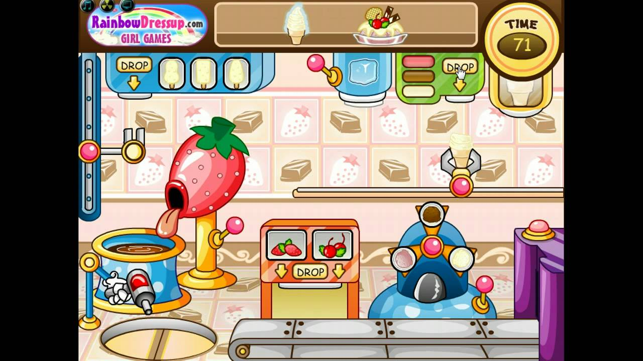 ice cream factory game walkthrough by girlsgames com youtube