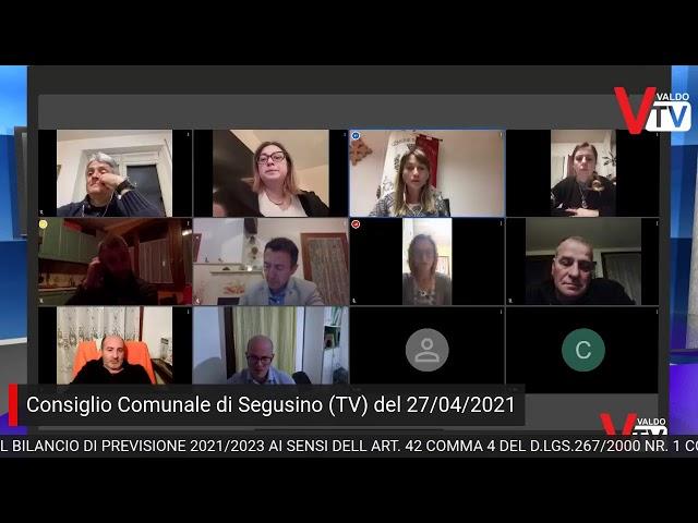 Consiglio comunale di Segusino - martedì 27 aprile