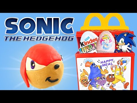 Видео: HAPPY MEAL McDonald Toys Play Doh Kinder Surprise Eggs Sonic Disney Princess Spongebob Hello Kitty