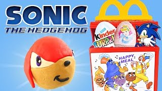 HAPPY MEAL McDonald Toys Play Doh Kinder Surprise Eggs Sonic Disney Princess Spongebob Hello Kitty