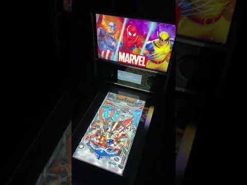 Arcade1up Marvel Pinball: Civil War Table Gameplay 60FP from Kelsalls Arcade