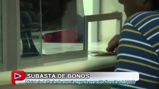 SUBASTA DE BONOS