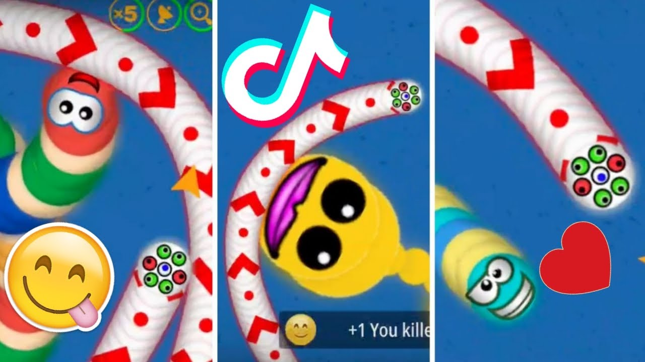 WormsZone.io 001 BiGGEST GOOD SLiTHER Snake Top 01 : Epic Worms Zone Best Gameplay Moments!