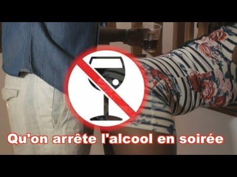 Qu'on arrête l'alcool en soirée - Stop drinking alcohol at parties poster