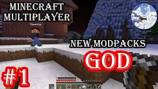Minecraft New Modpacks Multiplayer with IQ Gaming # 1 Let's Start