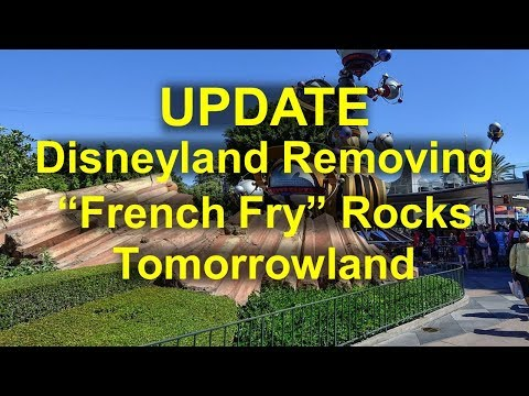 Chino - Disneyland Is Removing The French Fry Rocks In Tomorrowland!