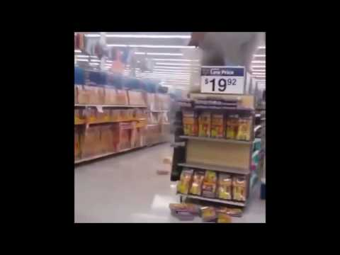 WALMART ON FIRE : Customer Lights the Entire Walmart Fireworks Display (VIDEO)