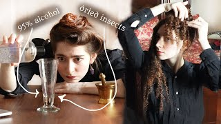 Following a Victorian Home Made Hair Care Routine (1889)