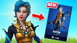 New Flutter Skin Gameplay - Chrysalis Crew Set! (Fortnite Battle Royale)