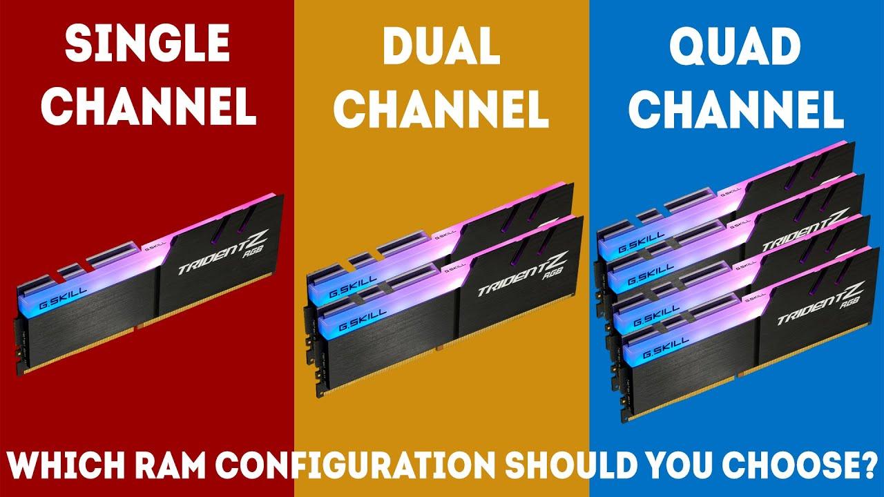 single vs dual channel ram benchmark)