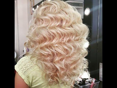 Голливудские локоны на длинный волос. Приглашение на курс Свадебные прически и укладки