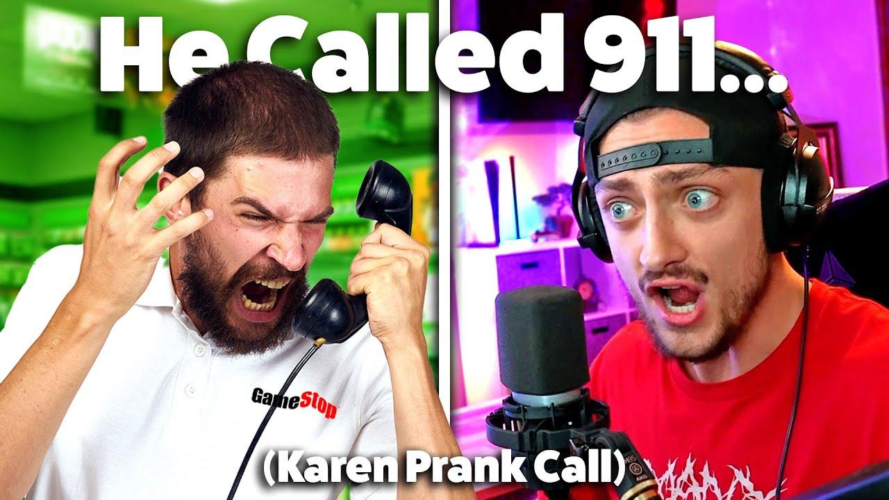 MOM VOICE vs GAMESTOP! He Called 911... (KAREN)