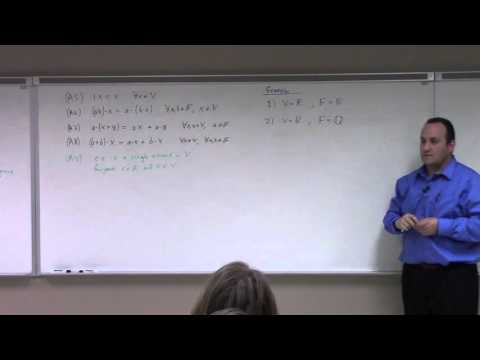 Linear Algebra: Feb 5, Vector Space, subspace tests