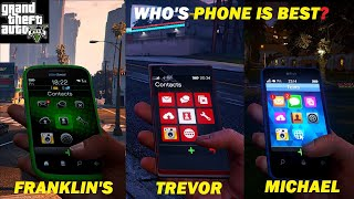 What is the best phone? Franklin vs Michael vs Trevor in Gta V !!