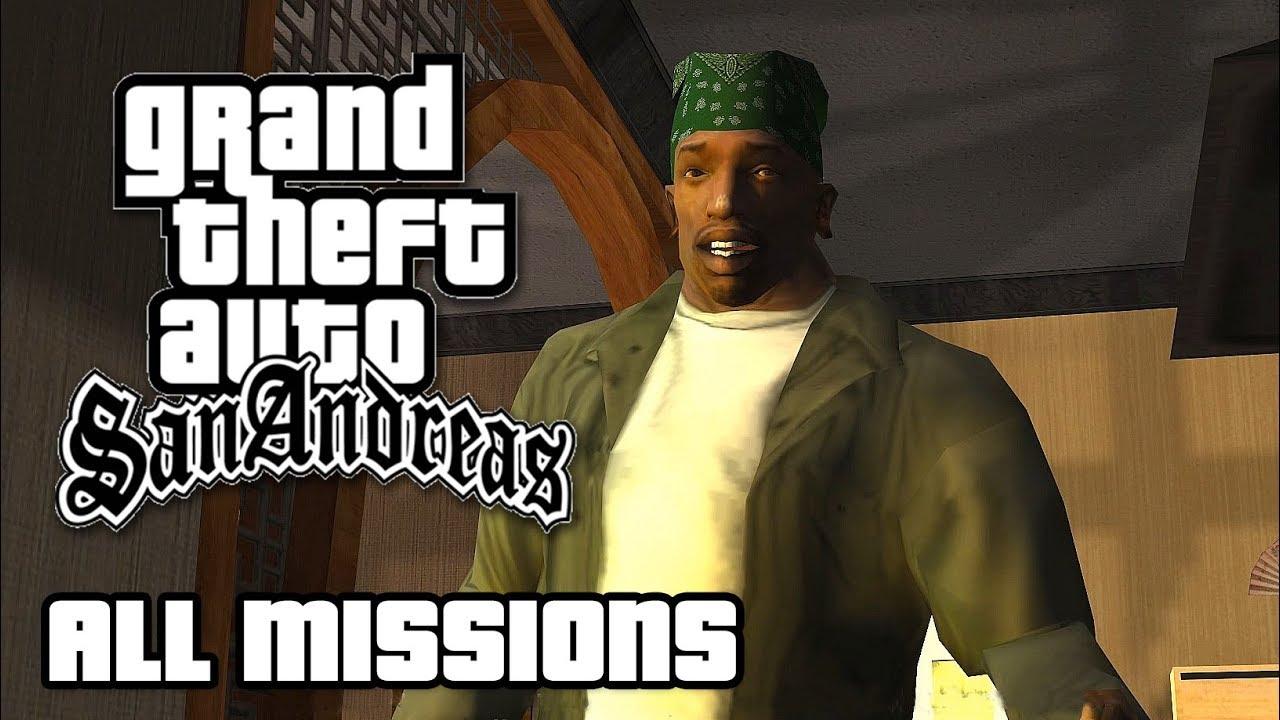 GTA San Andreas – All Missions Walkthrough (1080p 50fps)