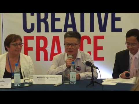 GS Ngo Bao Chau phat bieu tai Creative France