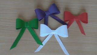 як зробити бант з кольорового паперу