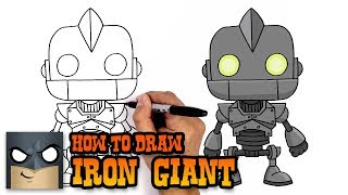 How to Draw Iron Giant Art Tutorial