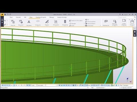 Fuel Storage Tank Part - 4 in Tekla Structures 2016