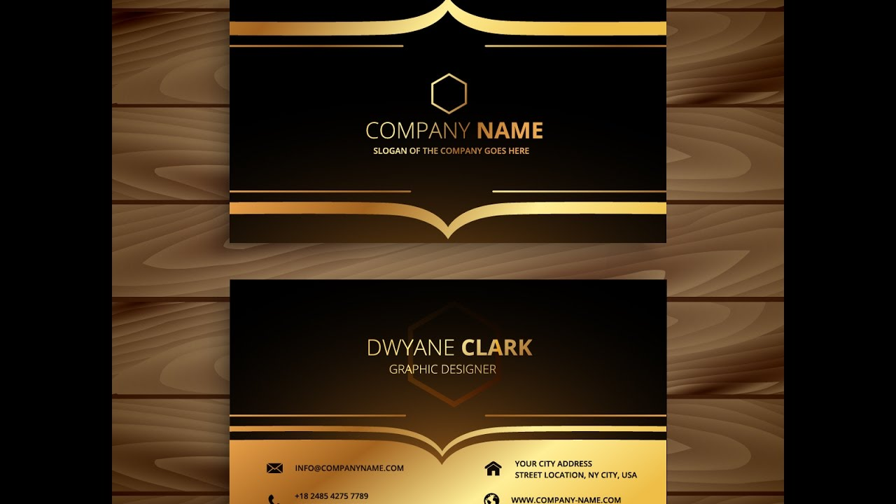 How to create luxury golden style business card in adobe illustrator how to create luxury golden style business card in adobe illustrator cs6 reheart