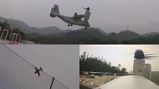E-flite V-22 Osprey VTOL crash