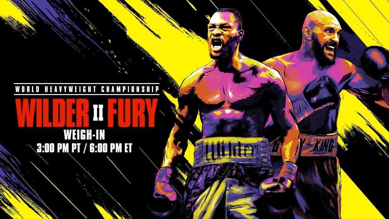 Fury Wilder 2 Weight - Wilder Vs Fury 2 Weigh In Video Mma Fighting