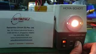 Hoya Schott Megalight 100 Repairs by Dynamics Circuit (S) Pte. Ltd.