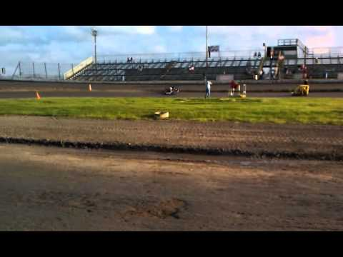 Ryan Carlucci South Texas Speedway Kart Heat Race  3-19-2011