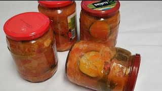 Qishga eng mazali, oson Salat☆ Заготовка самый Вкусный Салат на Зиму