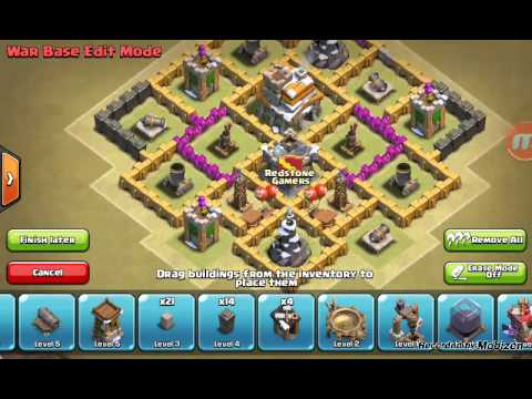 Clash Of Clans Th7 War Base No Barb King
